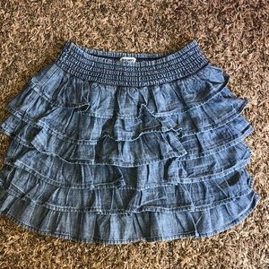Old Navy Denim Ruffled Skirt Size 4T